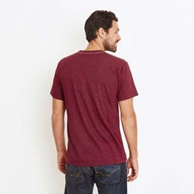 Wf Surplus Graphic Print T-Shirt Dark Wine Marl
