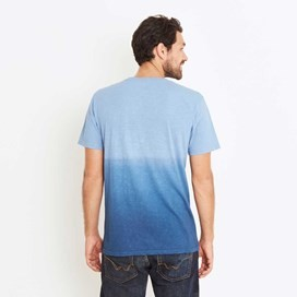 Quil Double Dip Dyed Graphic T-Shirt Federal Blue