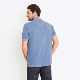 Edwin Garment Dyed Polo Shirt China Blue