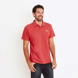 Andy Embroidered Logo Jersey Polo Shirt Dark Red Marl