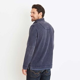 Meuli 1/4 Zip Pique Sweatshirt Blueberry
