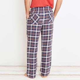 Repend Checked Loungepants Ensign Blue