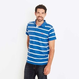 Turing Striped Polo Shirt Cobolt Blue