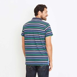 Anning Striped Polo Shirt Black