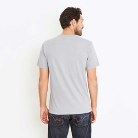 Bones Embroidered Logo Classic Plain T-Shirt Grey Blue Marl