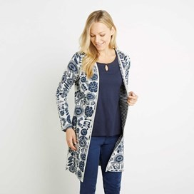 Nadine Double Faced Cardigan Dark Navy