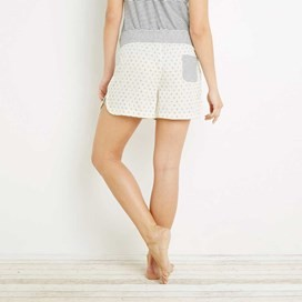 Unice Printed Dobby & Stripe Short Light Cream