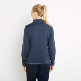 Jessie 1/4 Zip Soft Knit Fleece Top Dark Navy