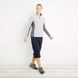 Emma 1/4 Zip Active Macaroni Sweatshirt Ecru