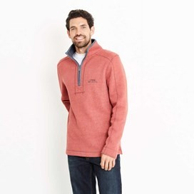 Geonre 1/4 Neck Zip Sweatshirt Dark Red