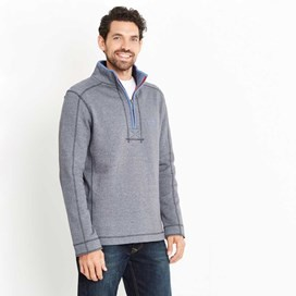 Geonre 1/4 Neck Zip Sweatshirt Blueberry