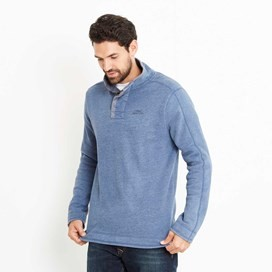 Genie Button Neck Sweatshirt Ensign Blue