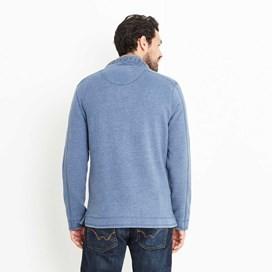 Genie Button Neck Sweatshirt Ensign Blue