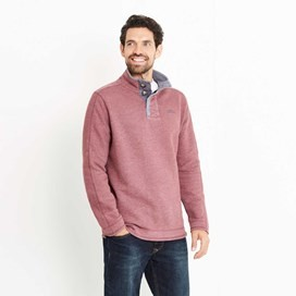 Genie Button Neck Sweatshirt Dark Wine