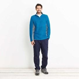 Siren 1/4 Zip Active Macaroni Sweatshirt Blue Jay