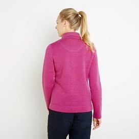 Iris Full Zip Soft Knit Jacket Dark Raspberry