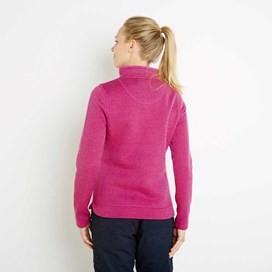Margot 1/4 Zip Soft Knit Top Dark Raspberry