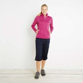 Margot 1/4 Zip Soft Knit Top Dark Raspberry