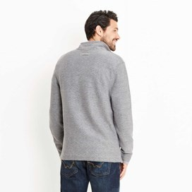 Cruiser 1/4 Zip Classic Macaroni Sweatshirt Grey Blue