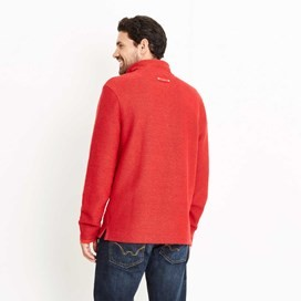 Cruiser 1/4 Zip Classic Macaroni Sweatshirt Dark Red