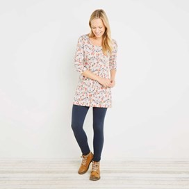 Echo Jacquard Pattern Tunic Porridge