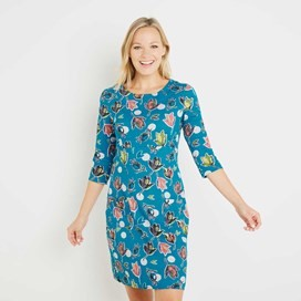 Starshine Printed Jersey Dress Blue Jay