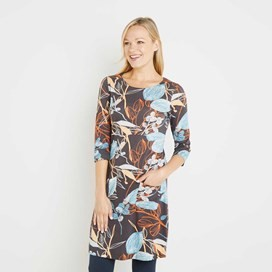 Starshine Printed Jersey Dress Coal