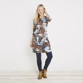 Starshine Printed Jersey Dress Coal