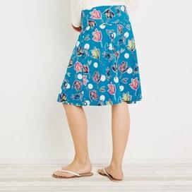 Malmo Printed Jersey Skirt Blue Jay