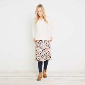 Malmo Printed Jersey Skirt Porridge
