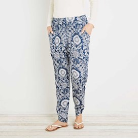 Nimbus Lightweight Printed Harem Trouser Dark Navy