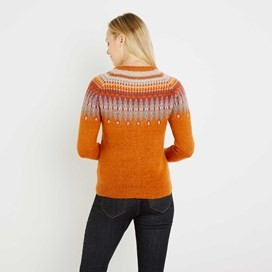 Kara Fair Isle Jumper Pumpkin