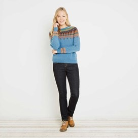 Kara Fair Isle Jumper Bluebird