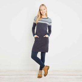 Sebah Fair Isle Knitted Dress Coal