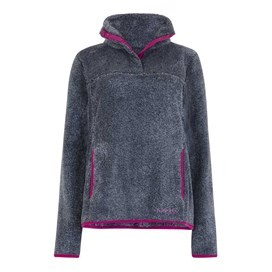 Octavia Plush Fur Pop Over Fleece Dark Navy