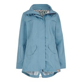 Avesta Print Lined Fully Waterproof Hooded Jacket Bluebird