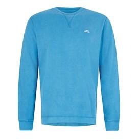 Trace Long Sleeve Crew Neck T-Shirt Blue Jay