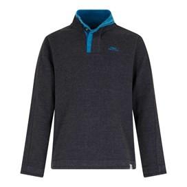 Genie Button Neck Sweatshirt Black