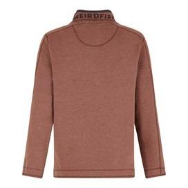 Genie Button Neck Sweatshirt Burnt Henna