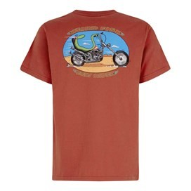 Eely Rider Artist T-Shirt Tango Red
