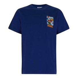 Crackered Artist T-Shirt Estate Blue