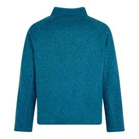 Bare 1/4 Zip Soft Knit Fleece Top Blue Jay
