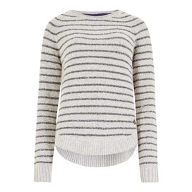 Eldridge Striped Jumper Ivory