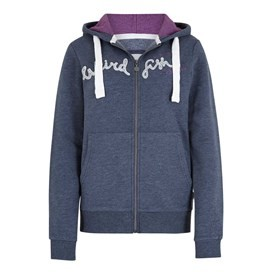 Polly Full Zip Applique Hoodie Midnight