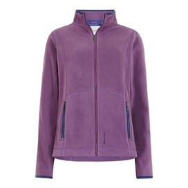 Christa Full Zip Microfleece Jacket Mulberry