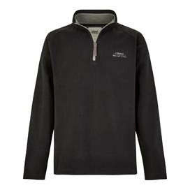 Hagan 1/4 Zip Microfleece Top Black