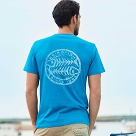 Heritage Surf Graphic Print T-Shirt Blue Jay Marl