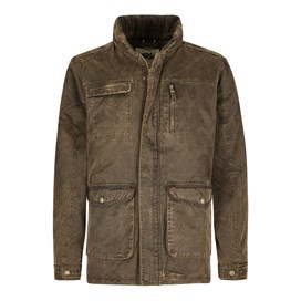 Thunderchief Waxed Look Padded Jacket Shale
