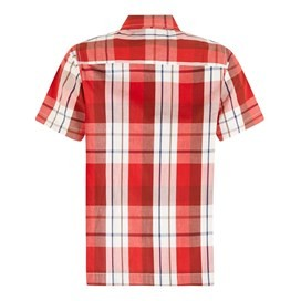 Farley Short Sleeve Check Shirt Tango Red