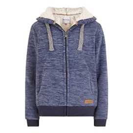 Bellaroo Space Dyed Full Zip Fleece Hoodie Dark Navy